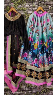 Floral Patterned Lehenga